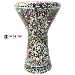 "The Ares NG 2.0 Sombaty Gawharet El Fan 18.5"" Darbuka With Real Blue Mother of Pearl"