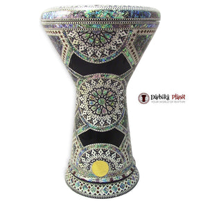 "The Minerva NG 2.0 Sombaty Gawharet El Fan 18.5"" Darbuka With Real Blue Mother of Pearl"