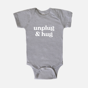 Unplug & Hug Baby One Piece Bodysuit