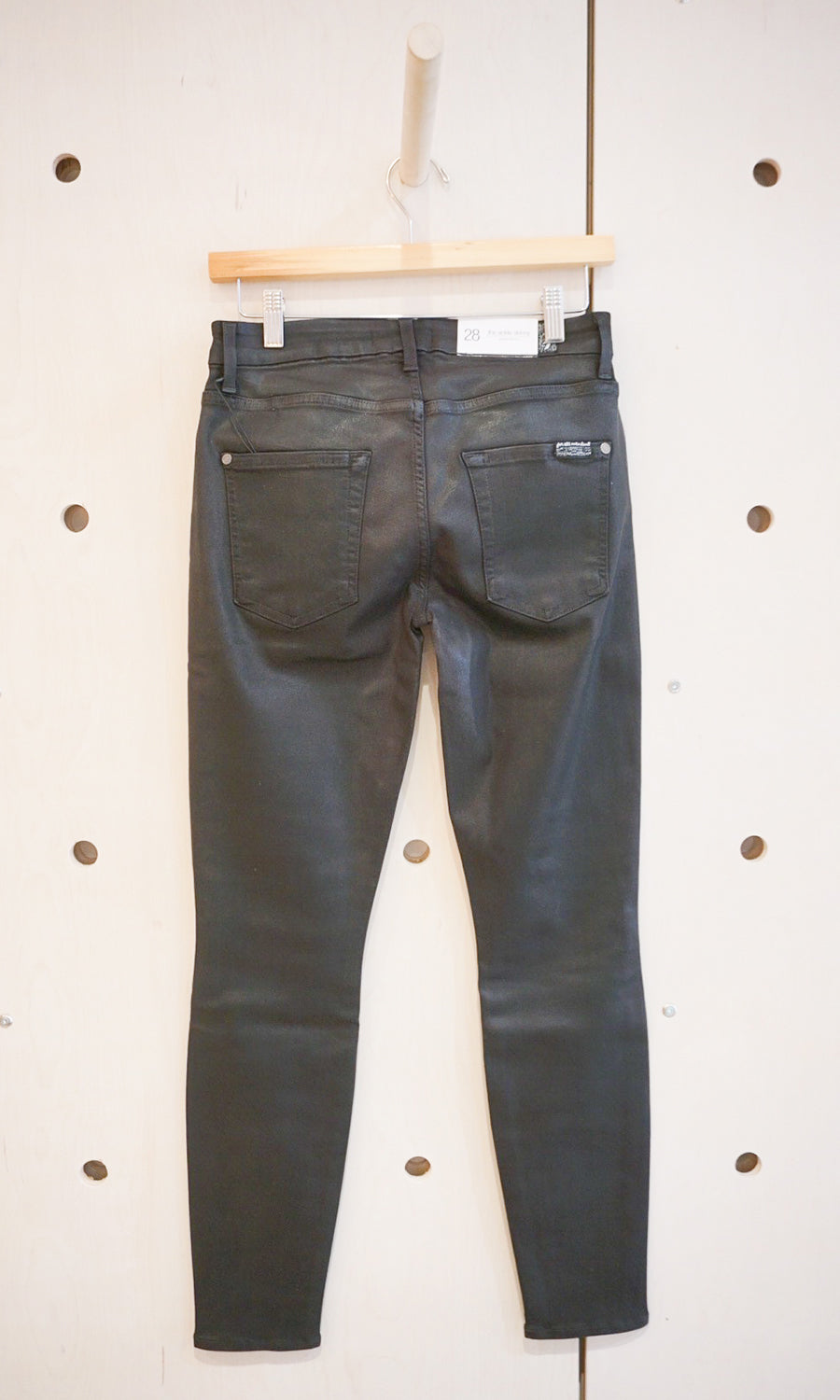 B(air) Ankle Skinny in Black Coated