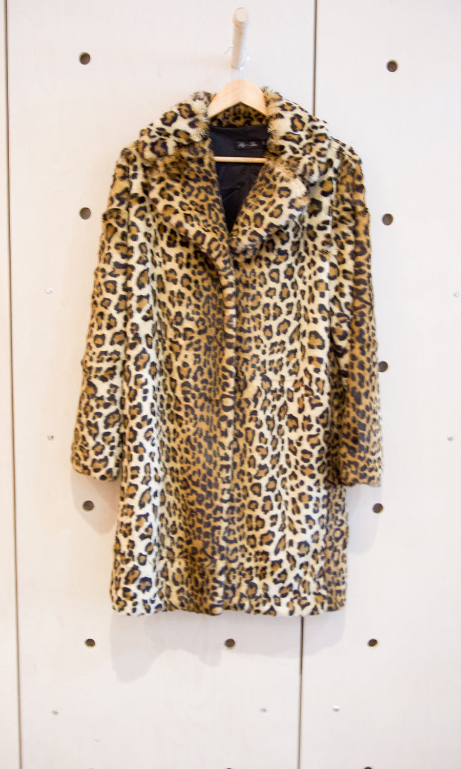 Faux Fur Leo Print Coat