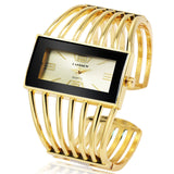 Gold Bangle Bracelet Women Wristwatch