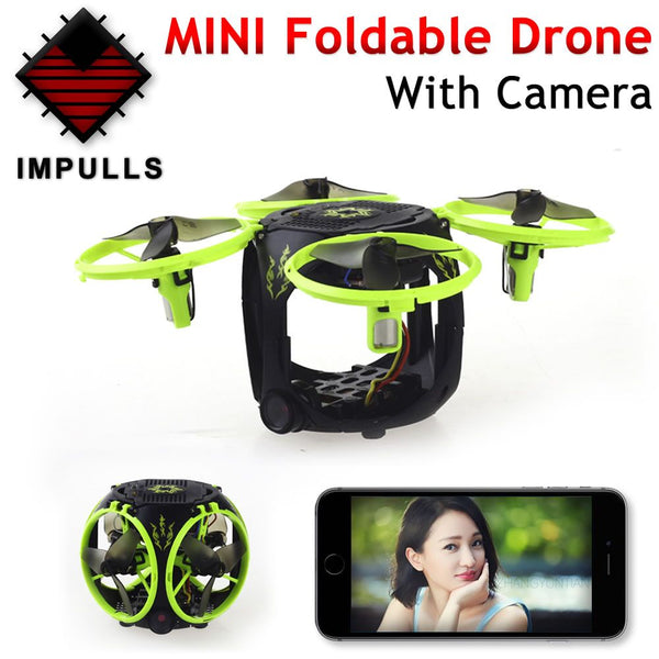 Foldable Transformable Collapsible Mini RC Drone With HD Camera