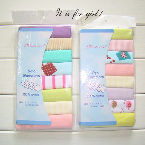 8 PCs Baby Feeding Towels - 247onlineSale.com