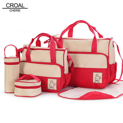 5 PCs Baby Diaper Bag Suits - 247onlineSale.com