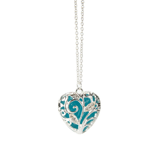 Magical Heart Glow In The Dark Necklace Gift - 247onlineSale.com