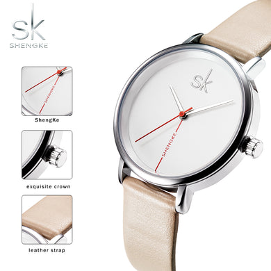 Waterproof Creative Leather Watch - Hot! - 247onlineSale.com