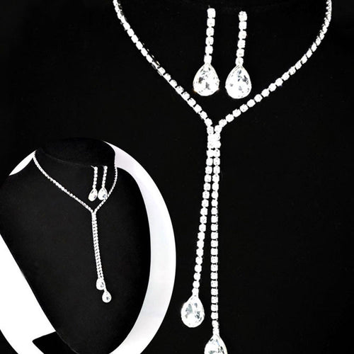 Prom Wedding Bridal Necklace Earring Sets - 247onlineSale.com