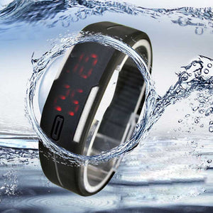 Ultra Thin Sports Silicone Digital Wrist Watch - 247onlineSale.com