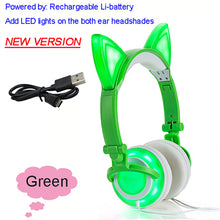 Cat Ear headphones with Flashing LED - 247onlineSale.com