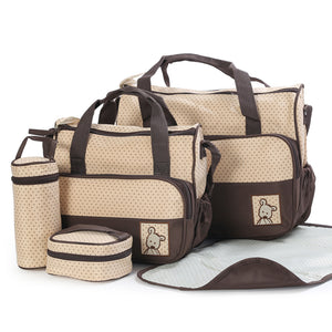 5 PCs Baby Diaper Bag Set - 247onlineSale.com
