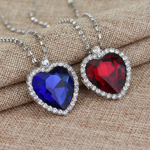 Crystal Heart Romantic Titanic Necklace - 247onlineSale.com
