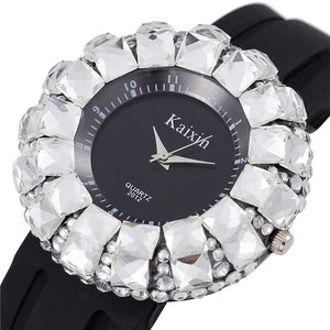 Luxury Crystal  Silicone Band Women Wristwatch - 247onlineSale.com