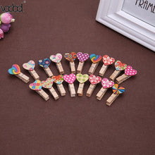 50pcs Love Heart Wooden Clip Office Accessories - 247onlineSale.com