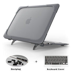 New Shockproof Cover with Foldable Stand For Macbook Air Models - 247onlineSale.com