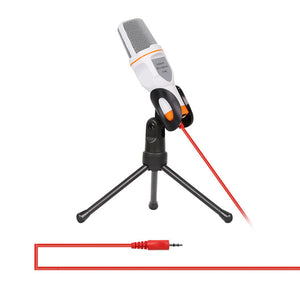 Portable Condenser Microphone 3.5mm Jack with Tripod Stand - 247onlineSale.com