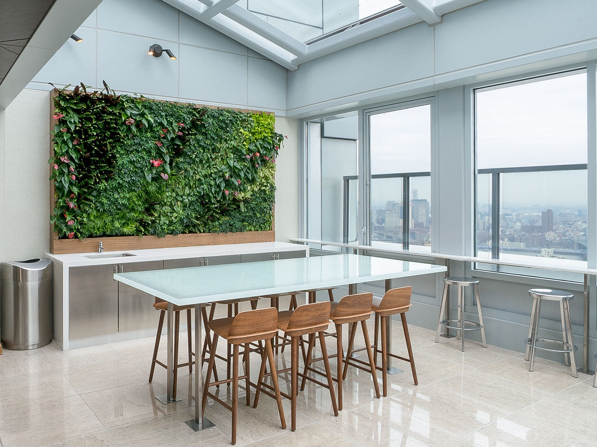 Green Wall in the atrium at AvalonBay in Brooklyn