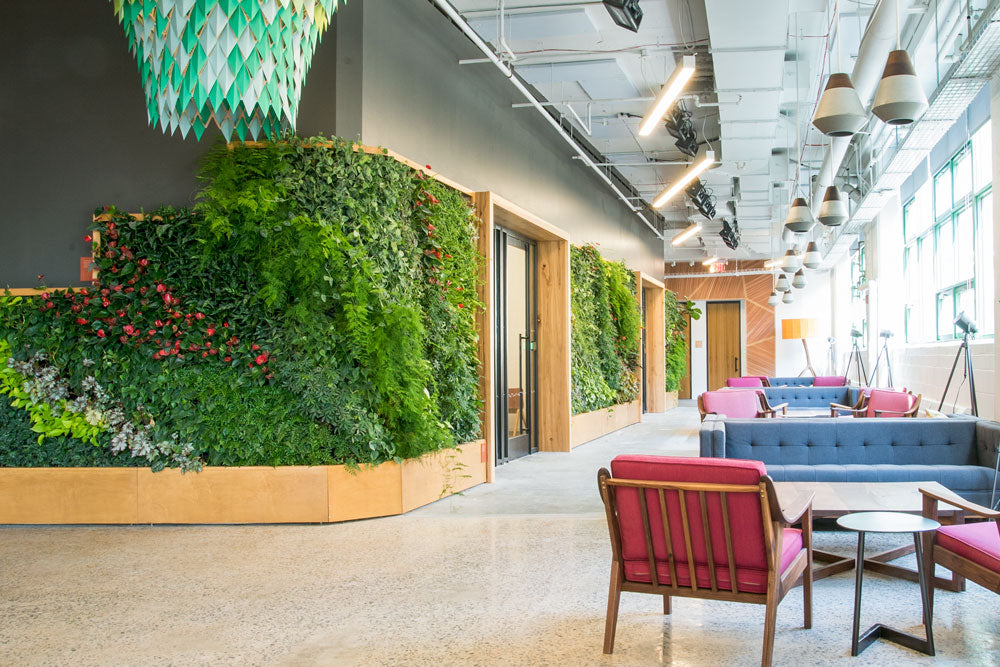 Green Wall at Etsy HQ by Greenery NYC.