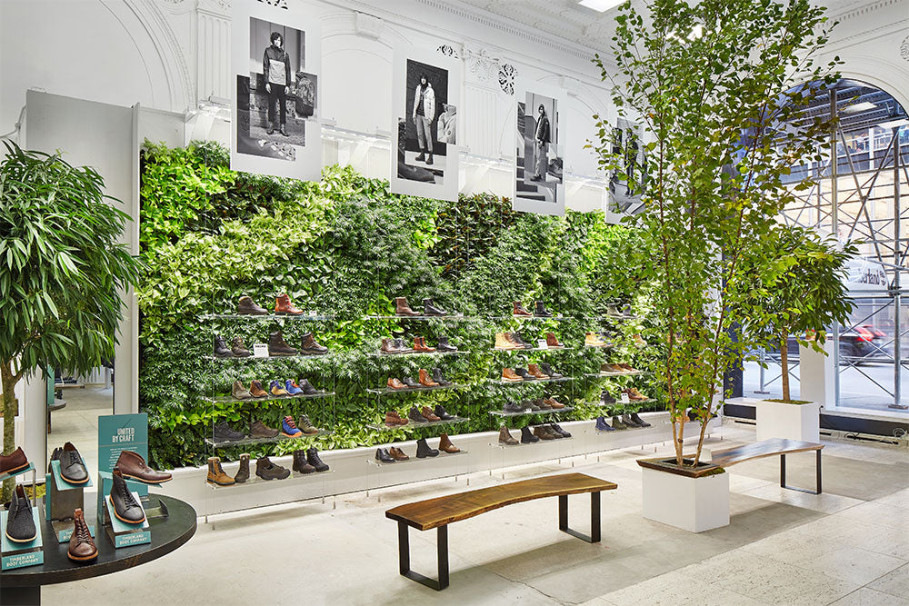 Plant Installation and Interiorscaping at the Timberland Store on Bryant Park in NYC