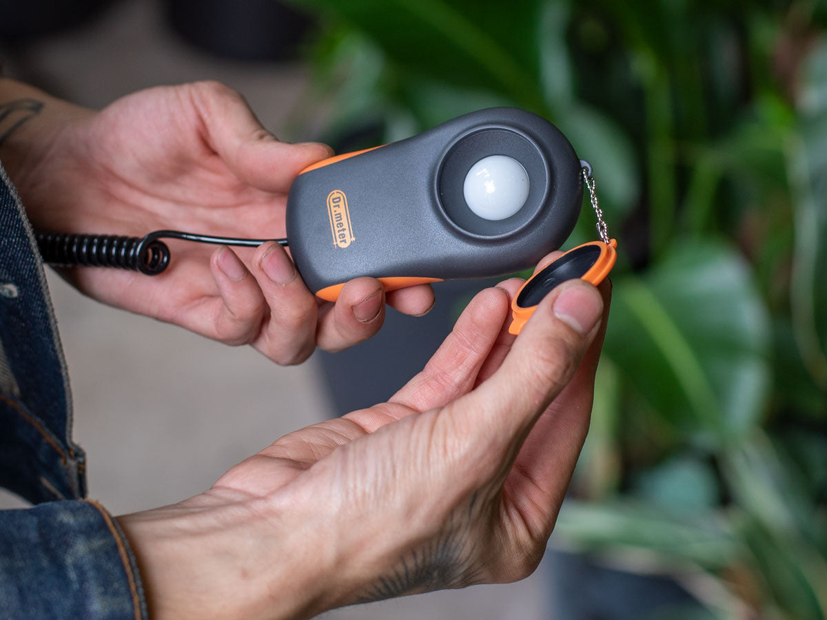 How to use a light meter to measure light for plants.