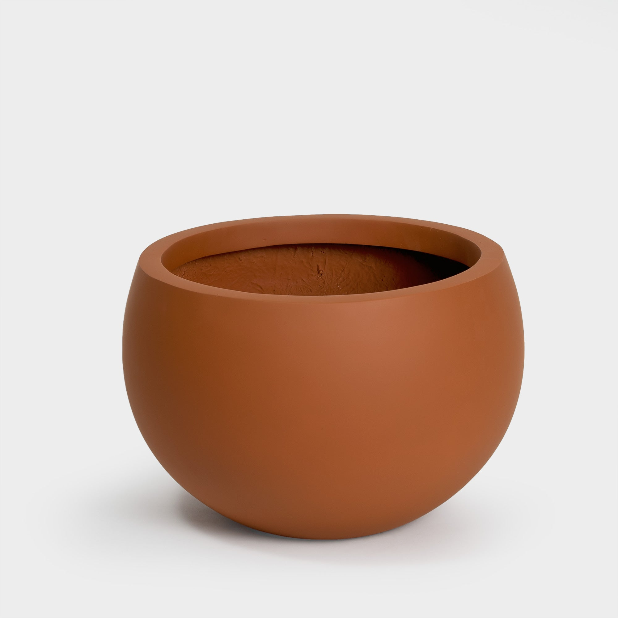 Terracotta brown hand painted round Large Planter for 14