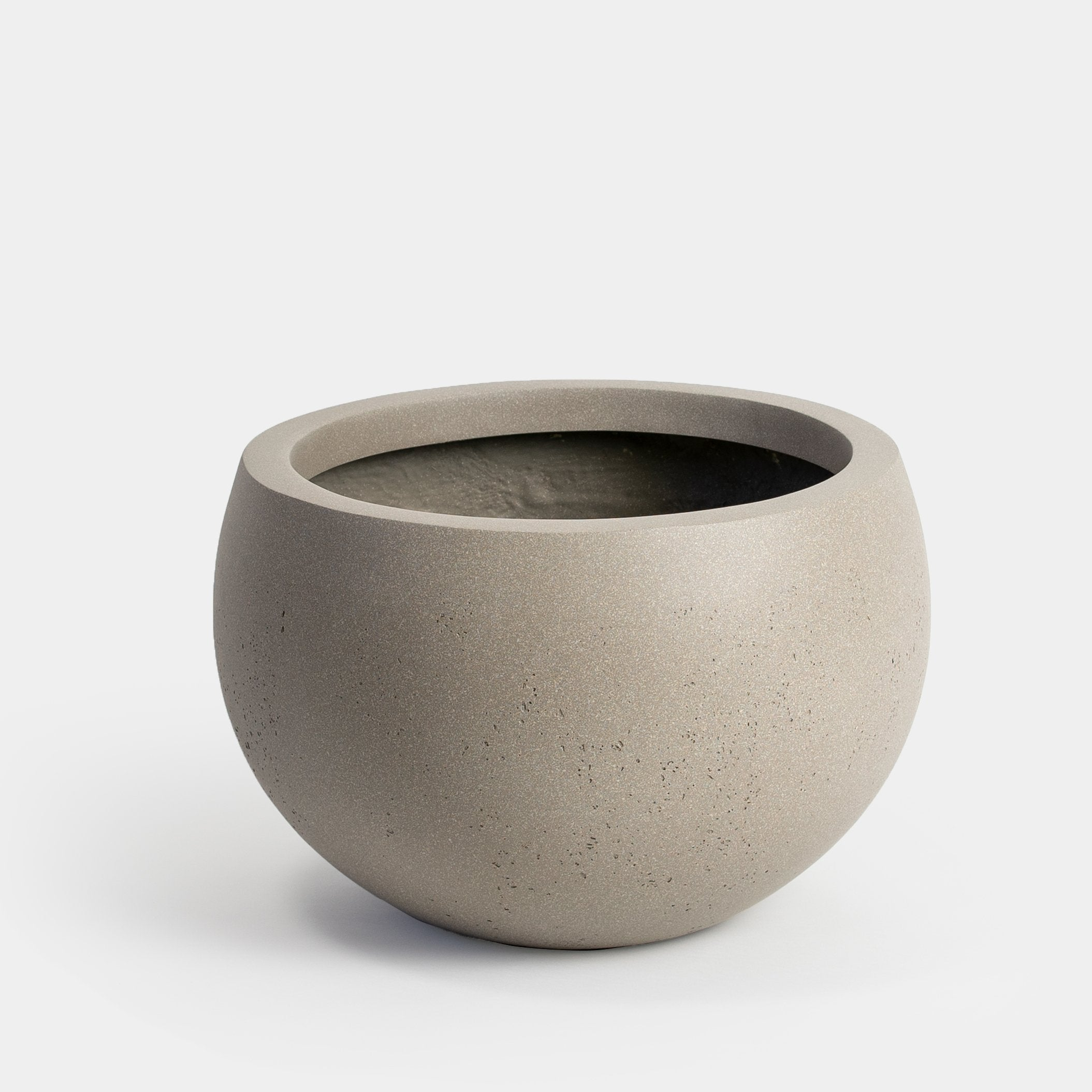 Stone grey painted round Large Planter for 14