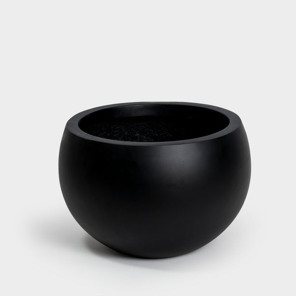Black hand painted round Large Planter for 14