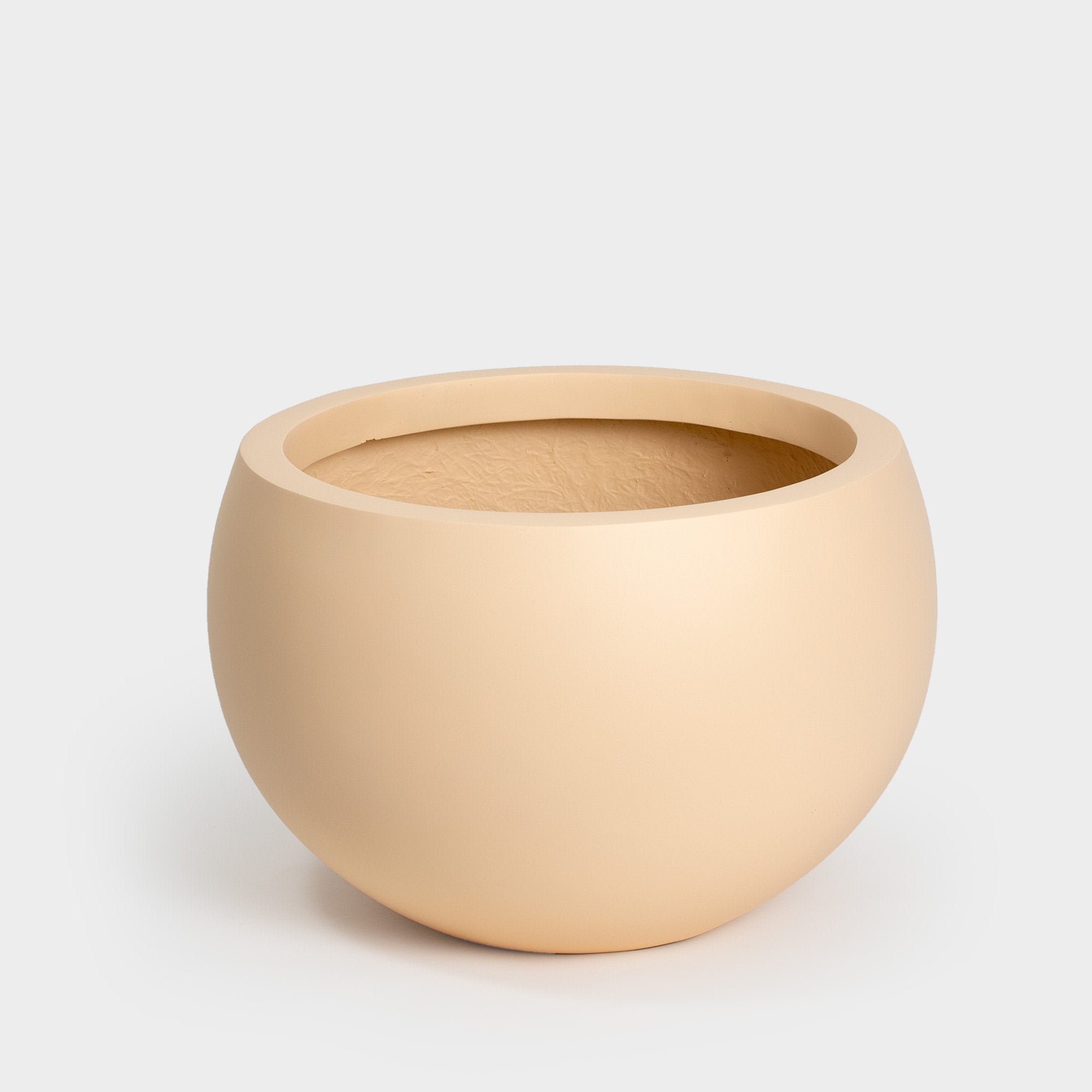 Pale salmon pink painted round Large Planter for 14