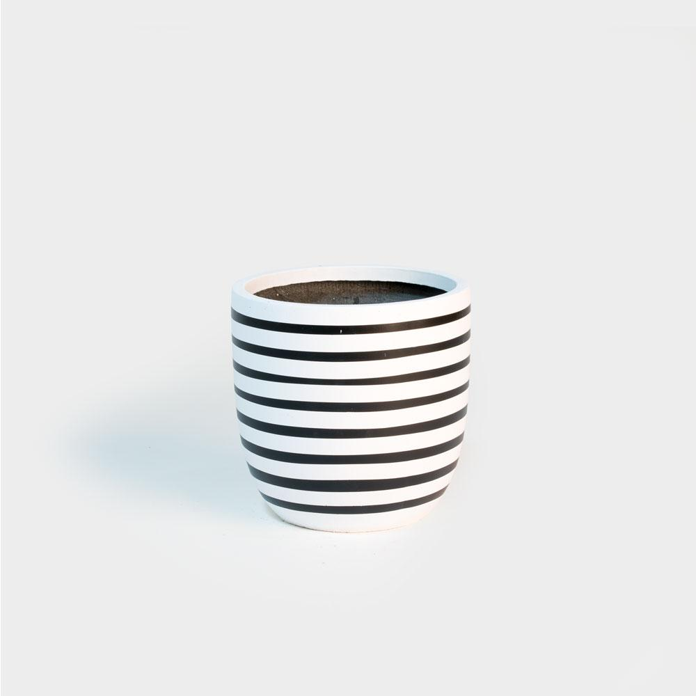 Design Twins Pinstripe - Small | Pots For Indoor Plants