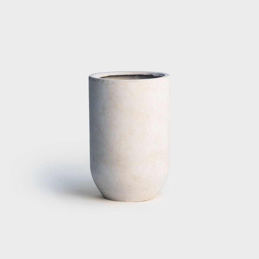 Ivory Fiberstone Bullet Planter - Small | Indoor Pots for Plants