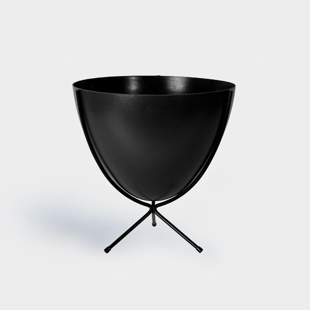 Hip Haven Retro Bullet - Black | Pots For Indoor Plants