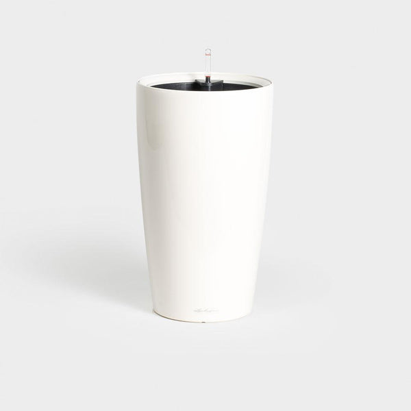 Lechuza Premium Rondo 32 - Gloss White: Self Watering Container