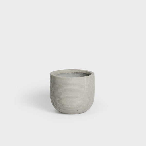 Pottery Pots Dice XS Horizontal Ridged | Ivory
