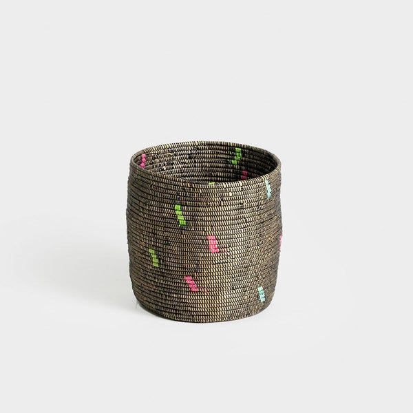 Black Rainbow .Confetti Basket.