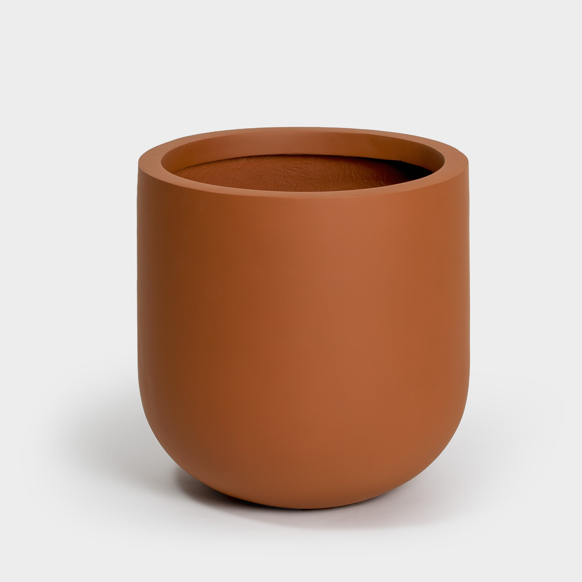 Terracotta brown large planter with curved bottom | Wythe 40