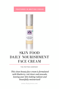 The Peyton Company Skin Food Daily Nourishment Face Cream Featured in British Vogue