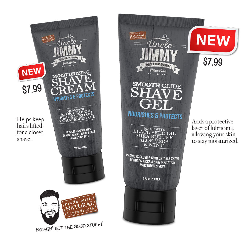 Uncle Uncle Jimmy Shave Gel & Cream