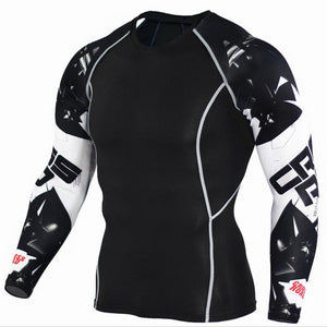 MMA Champion Compression Crossfit Workout Top