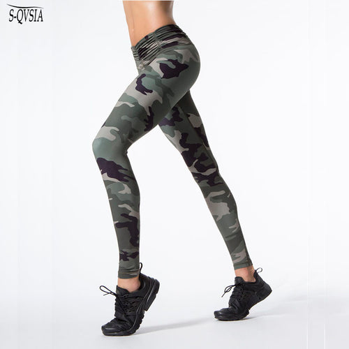 Camouflage Print Crossfit Bodybuilding Compression Tights