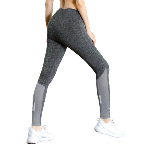 Night Run Style with Pocket Crossfit Bodybuilding Compression Tights