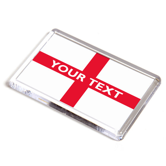 Personalised St George Cross England Flag Fridge Magnet