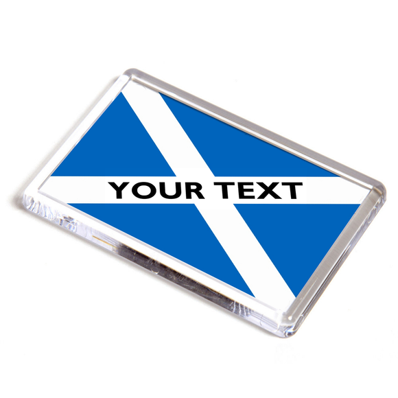 Personalised Scottish St Andrew's Saltire Flag Fridge Magnet