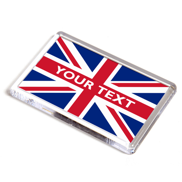 Personalised Union Jack Flag Fridge Magnet