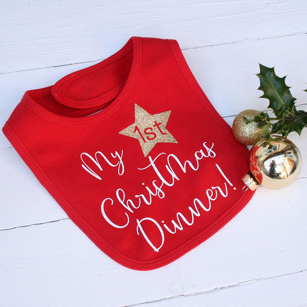 60a13f8ef My First Christmas Dinner Bib – Juliet Reeves Designs