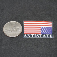 "ANTISTATE flag tiny 1"" decal"