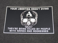 liberties aren't dying decal