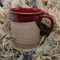 LTD patched-skull glazed mug
