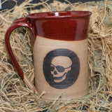 LTD patched-skull glazed mug v1.3