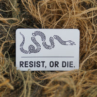 resist, or die. flag decal