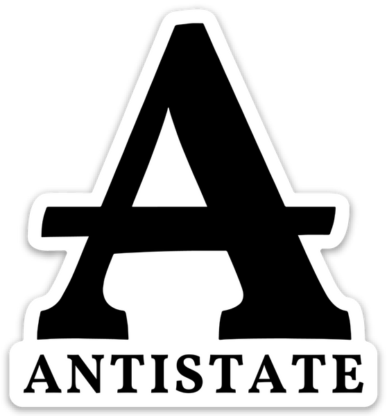antistate A white die-cut decal 3""